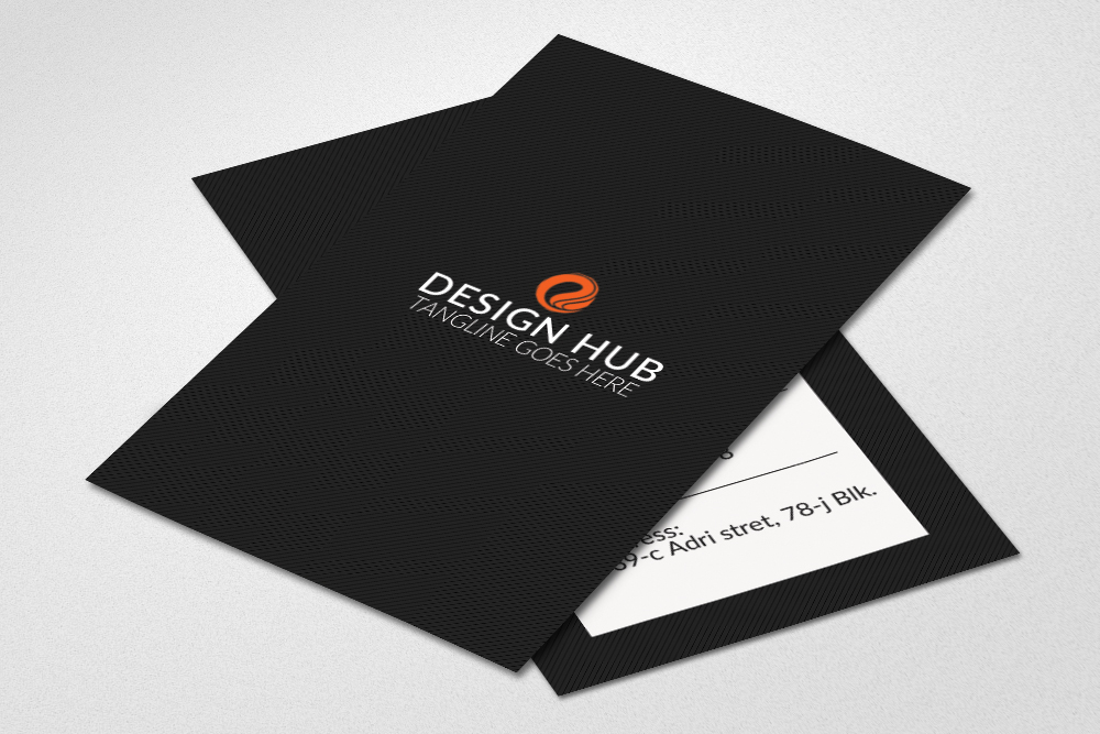 Stylish Vertical Business Cards  example image 2