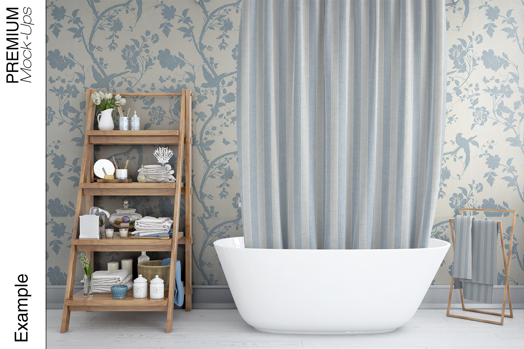 Bath Curtain Mockups example image 4