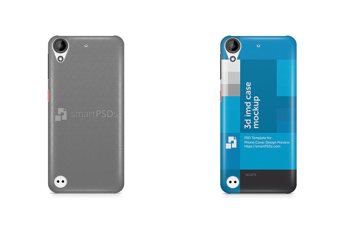 HTC Desire 530 3d IMD Mobile Case Design Mockup 2016 example image 1
