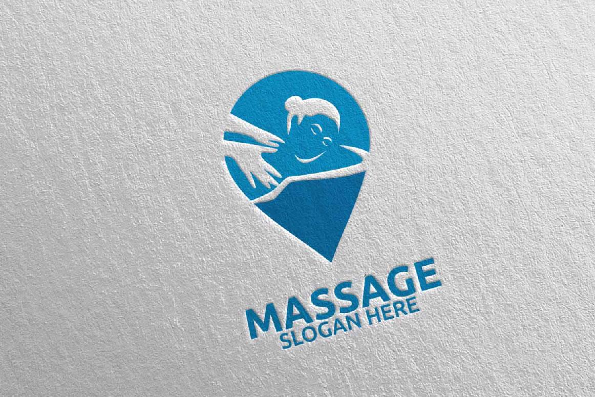 Massage Logo Design 10 example image 5