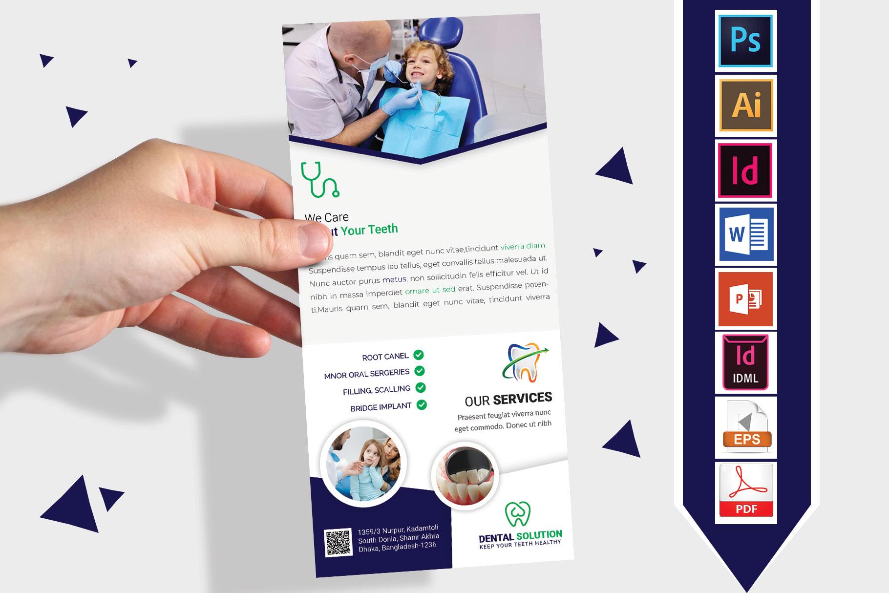 Rack Card   Dental DL Flyer Vol-02 example image 1