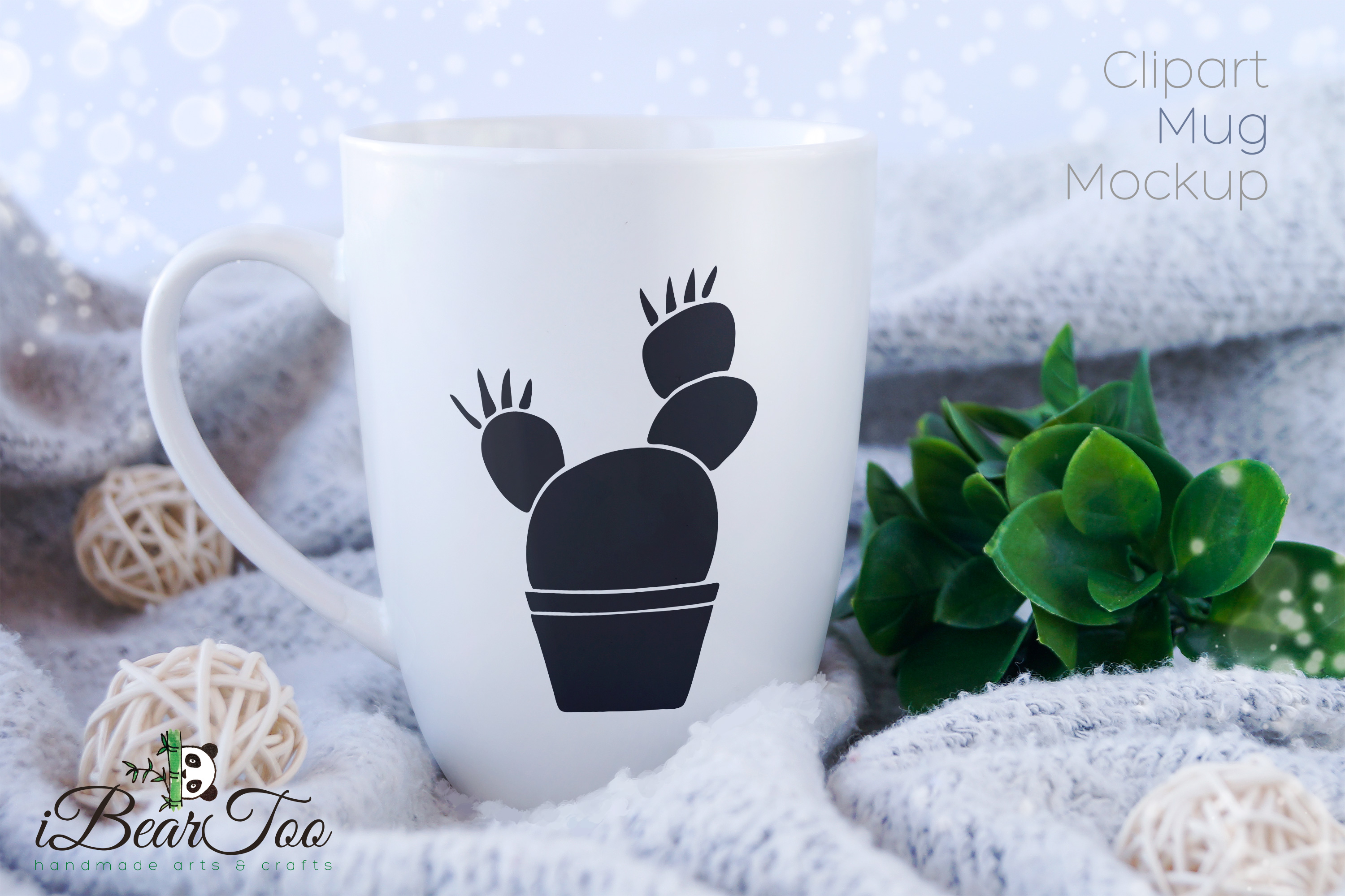 Cactus SVG Black Clipart Succulent Drawing Vector Cut File example image 3