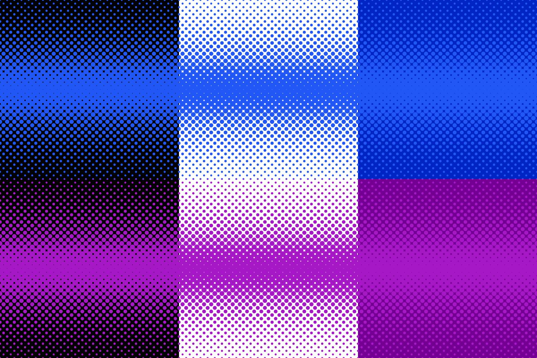 30 Halftone Dot Backgrounds (AI, EPS, JPG 5000x5000) example image 5