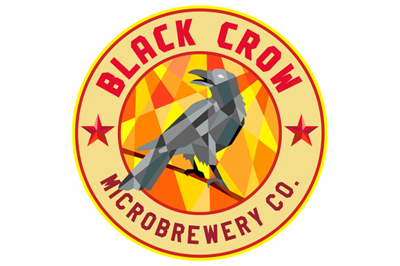 Crow Perched Microbrewery Circle Low Polygon example image 1
