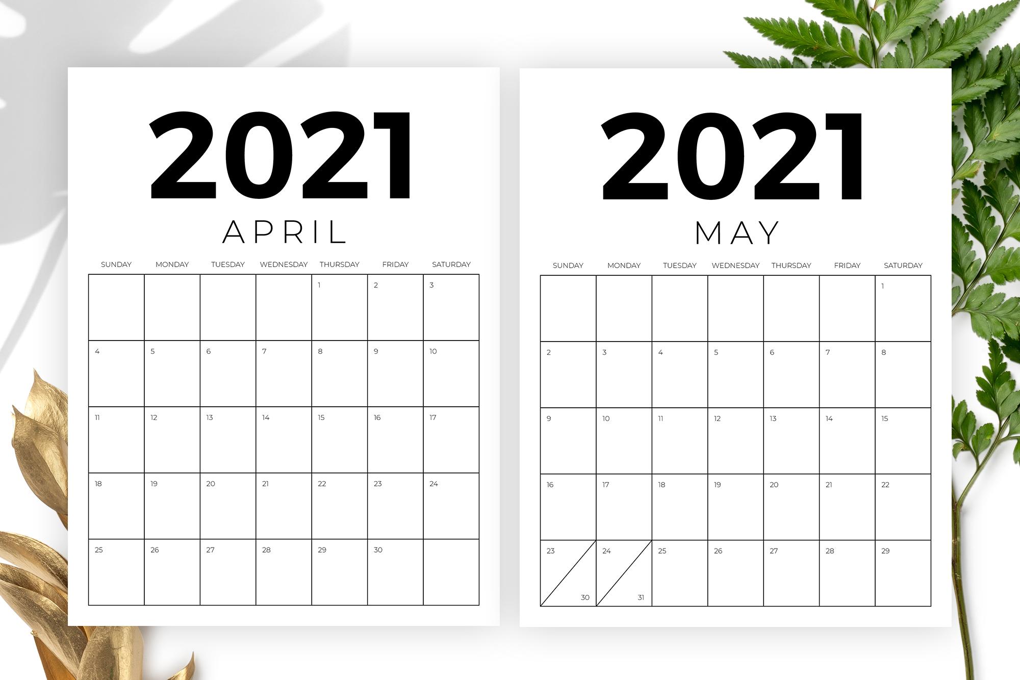 Vertical 8.5 x 11 Inch 2021 Calendar example image 3
