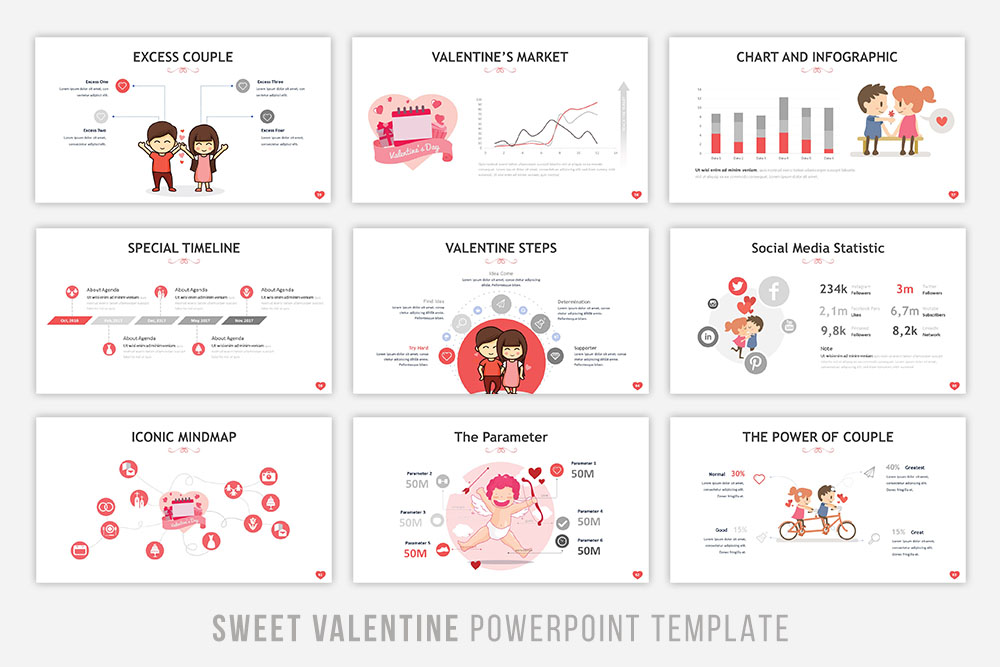 Sweet Valentine Powerpoint Template example image 7