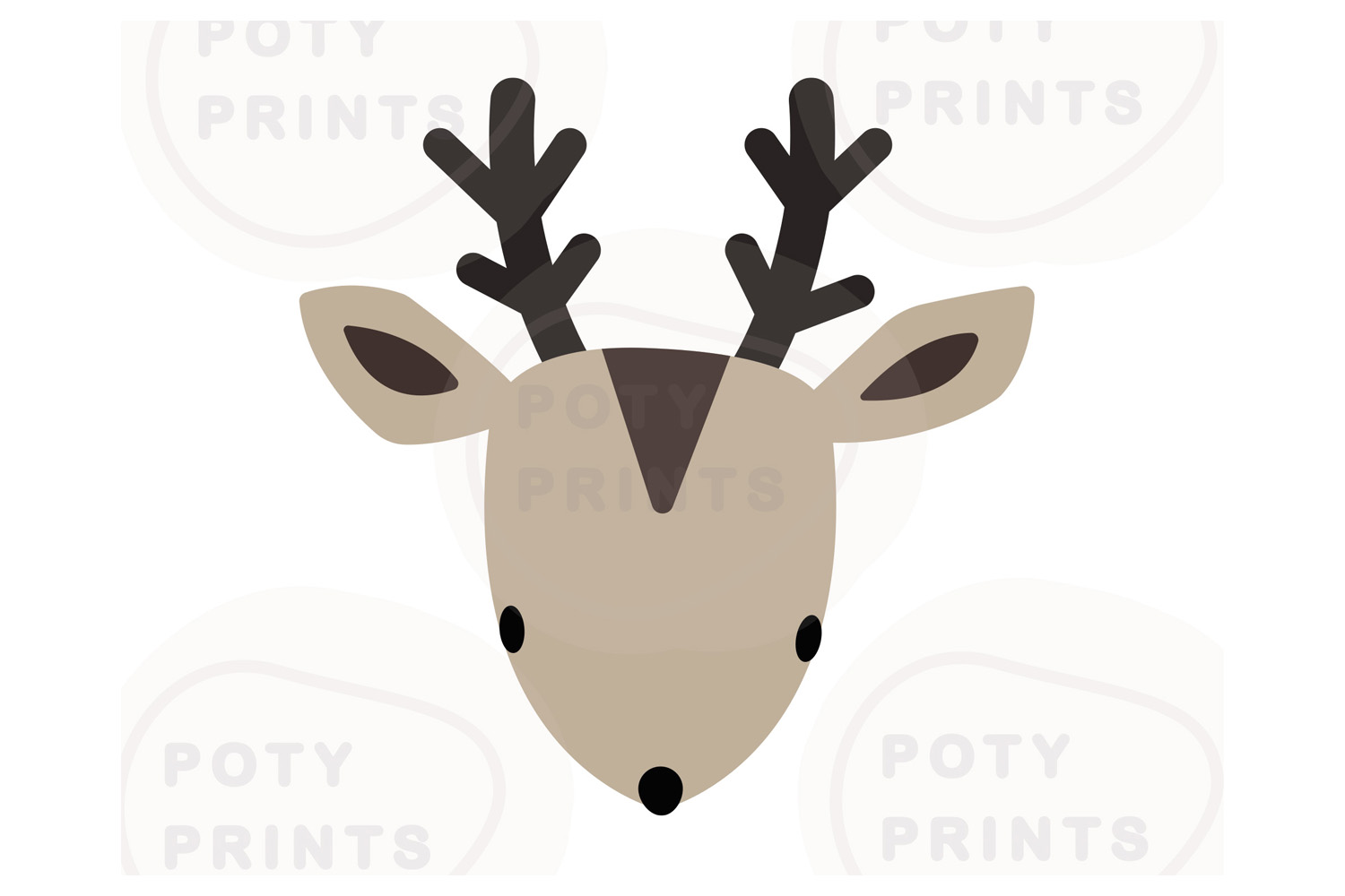 Christmas deer face svg file example image 1