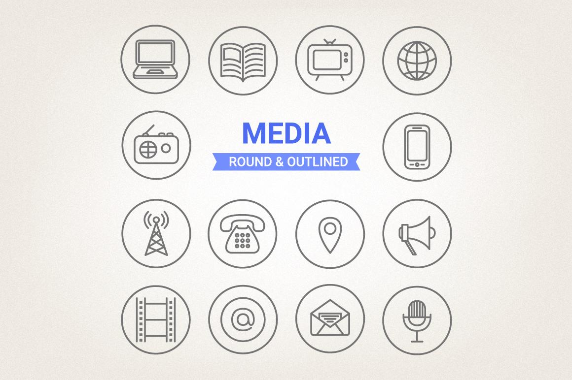 Circle Media Icons example image 1