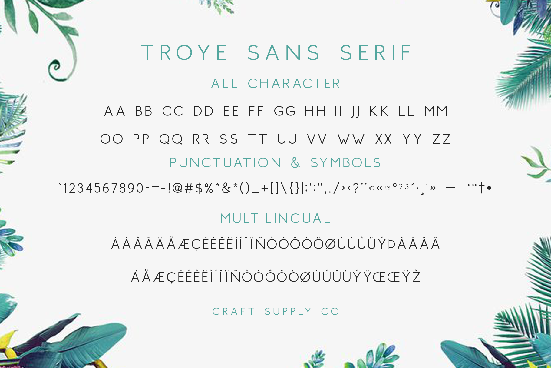 Troye Font Trio example image 12