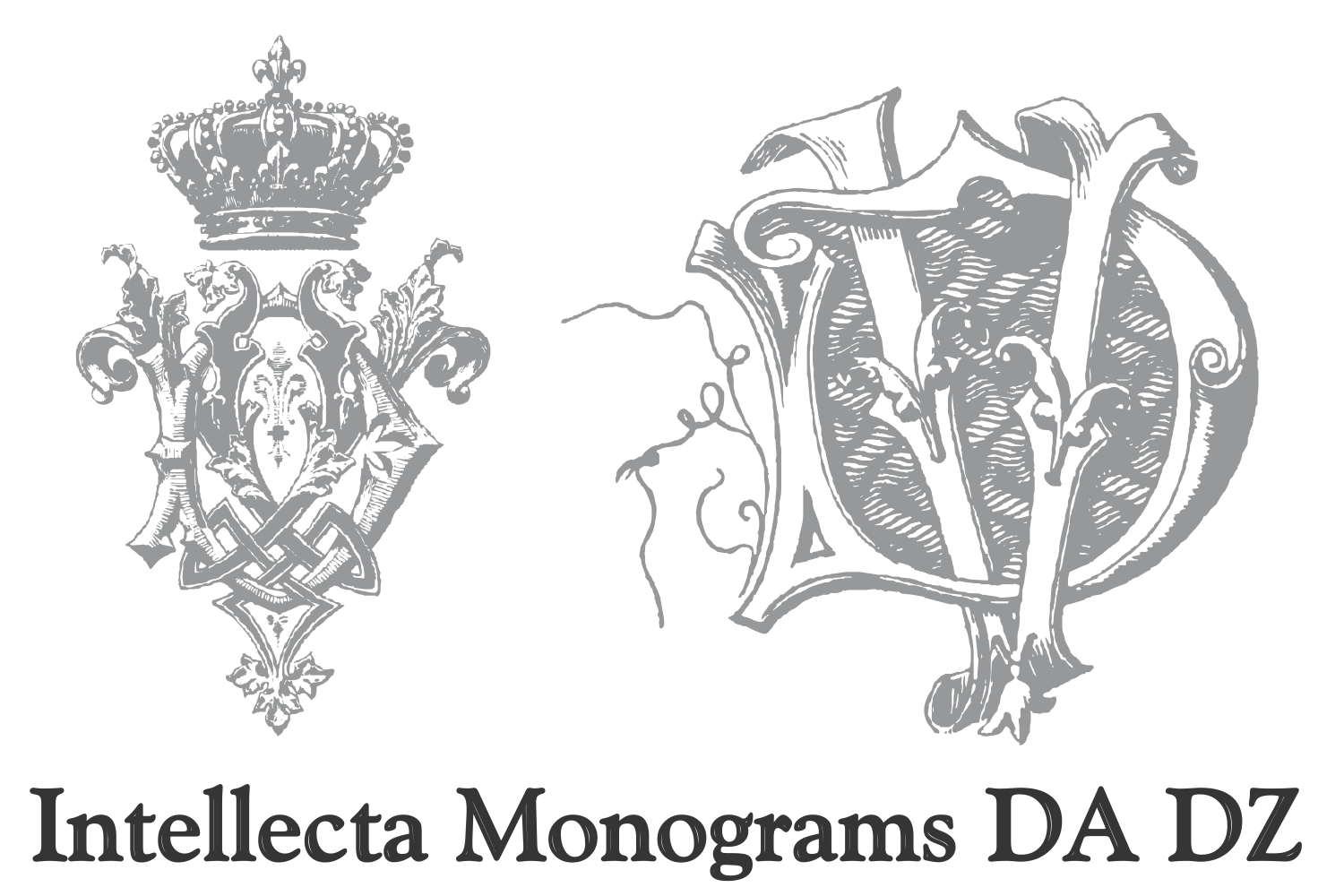 Intellecta Monograms DA DZ example image 2