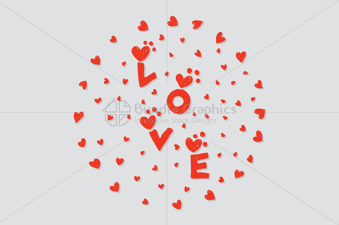 Love - Scribble Style  Freehand  Graphics example image 1