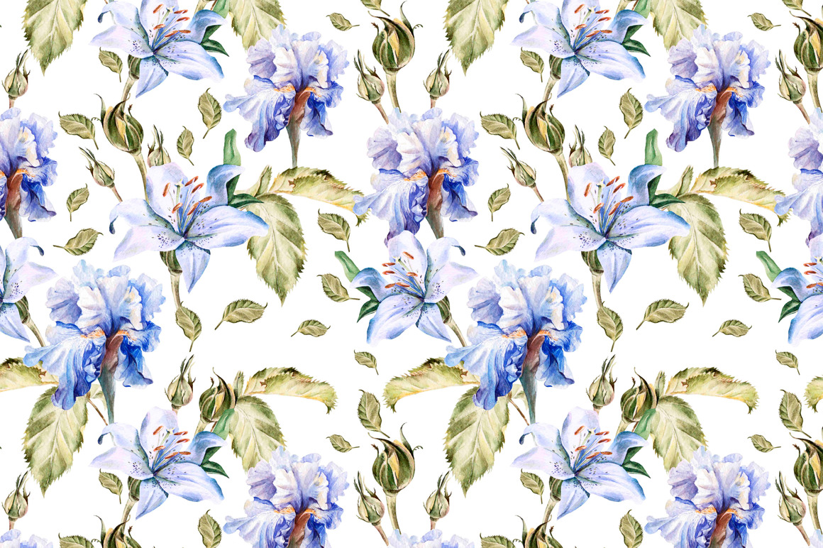 Hand Drawn Watercolor PATTERNS example image 2