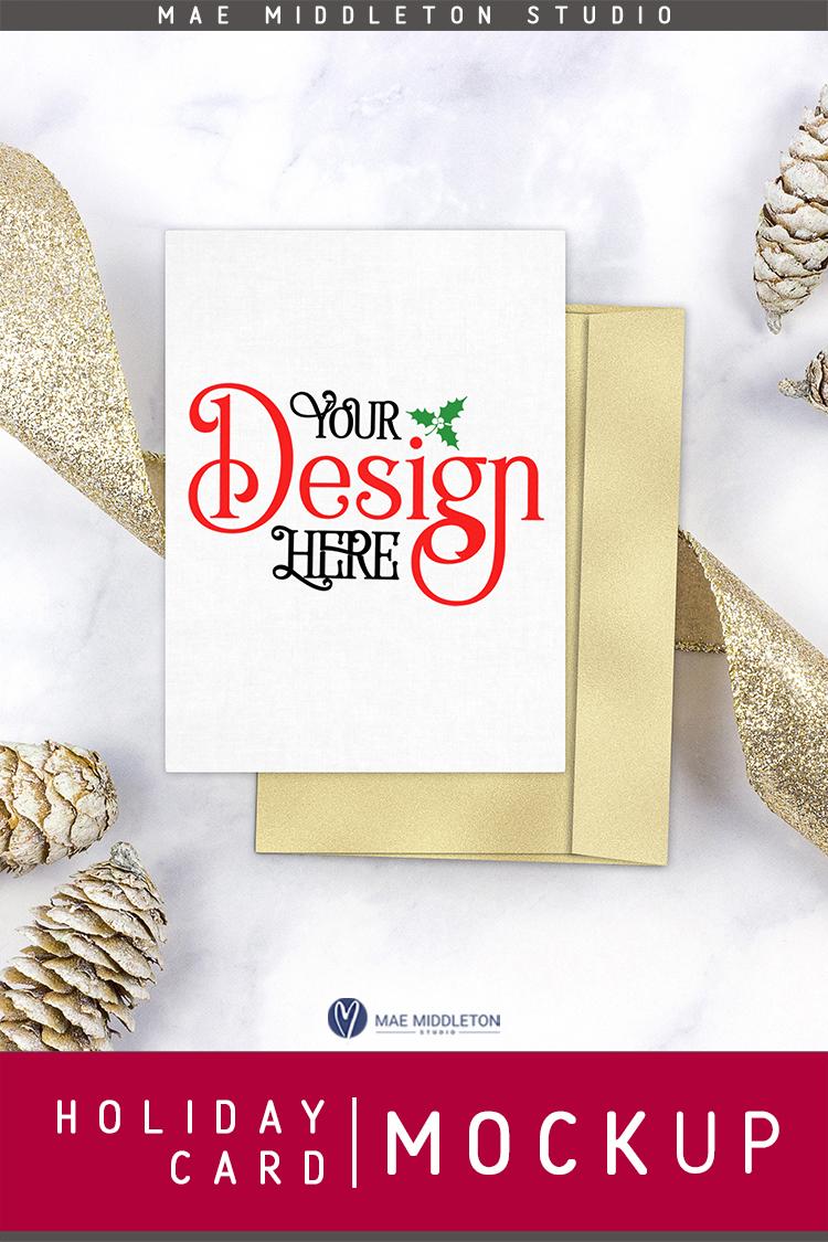 Holiday / Christmas Card / Stationery Mock Up example image 3