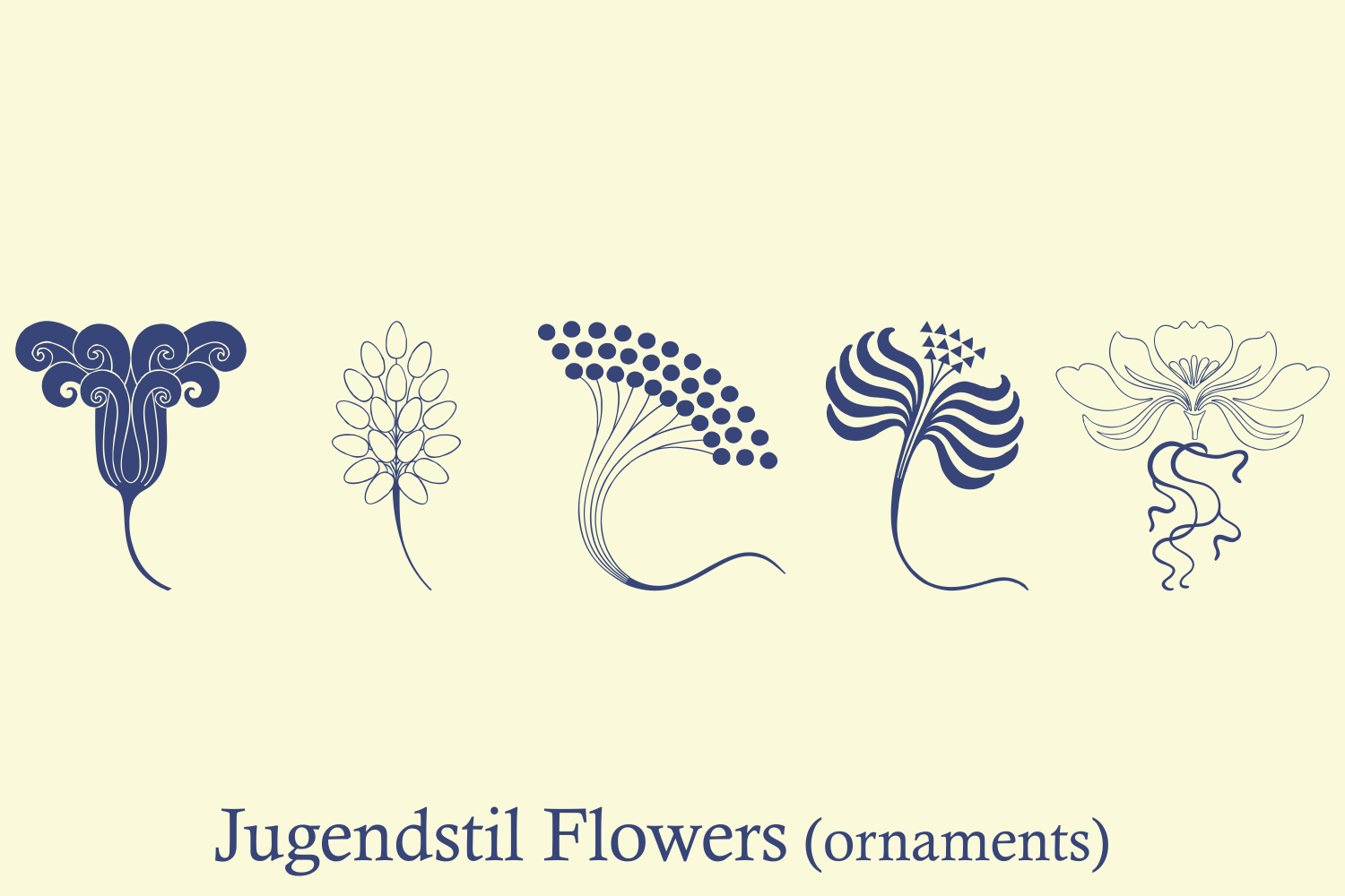 Jugendstil Flowers (family pack) example image 2