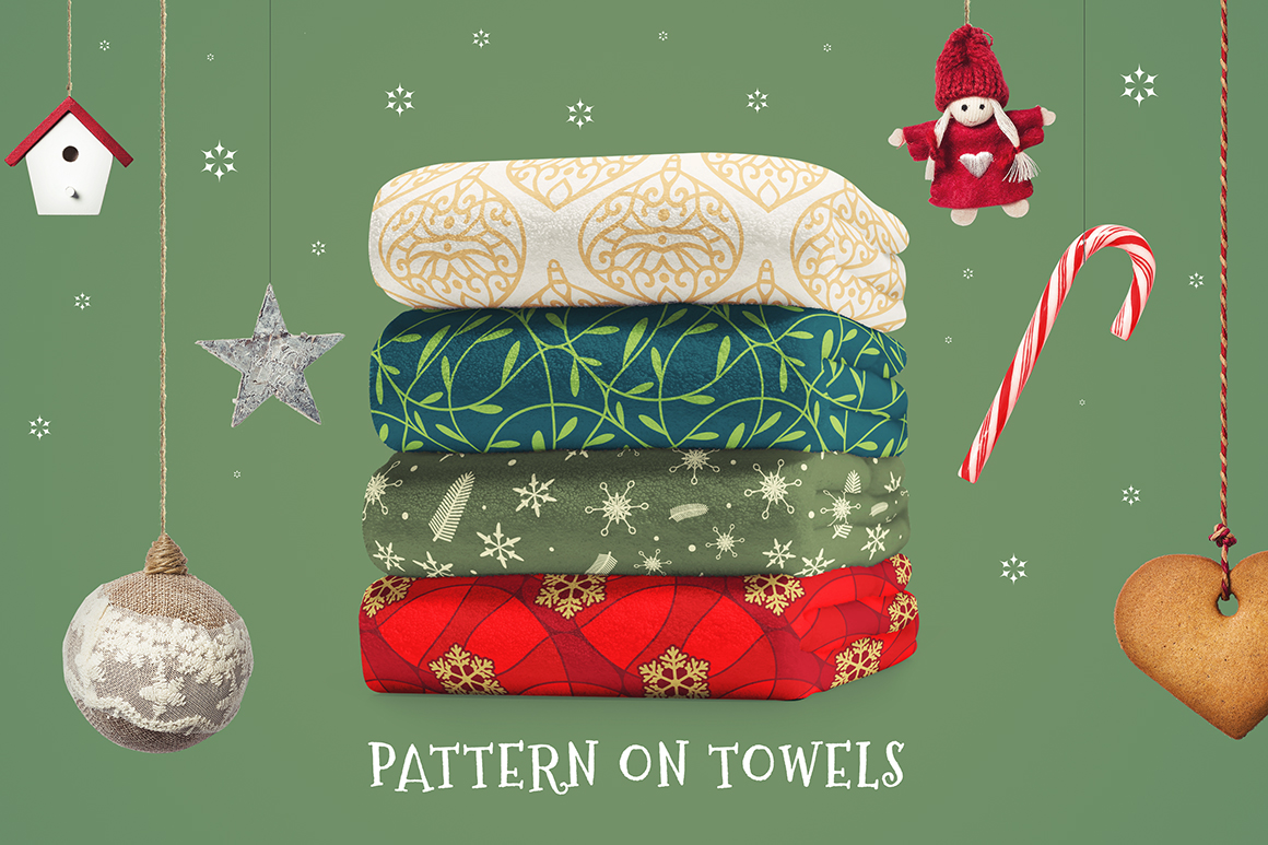 100 Christmas Seamless Patterns example image 24