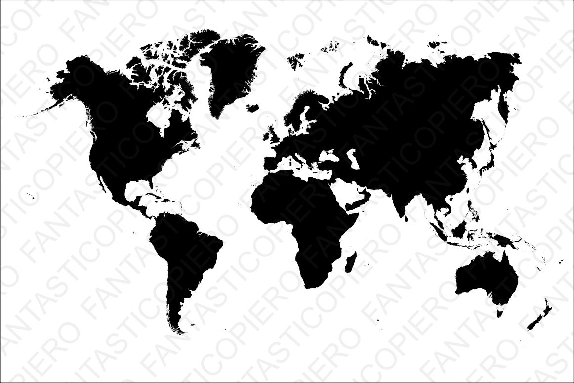 World map SVG file for Silhouette Cameo and Cricut. example image 1