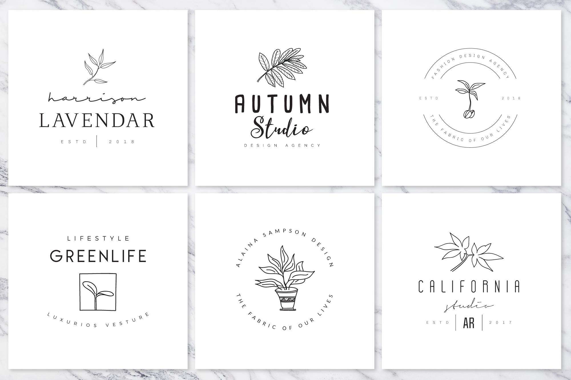 Feminine Branding Premade Logos V01 example image 9