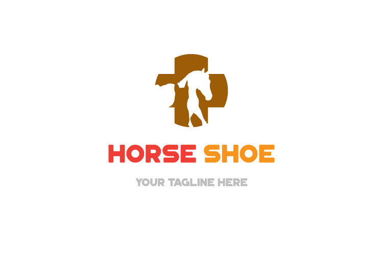 Horse Shape, pets medical care Logo example image 4