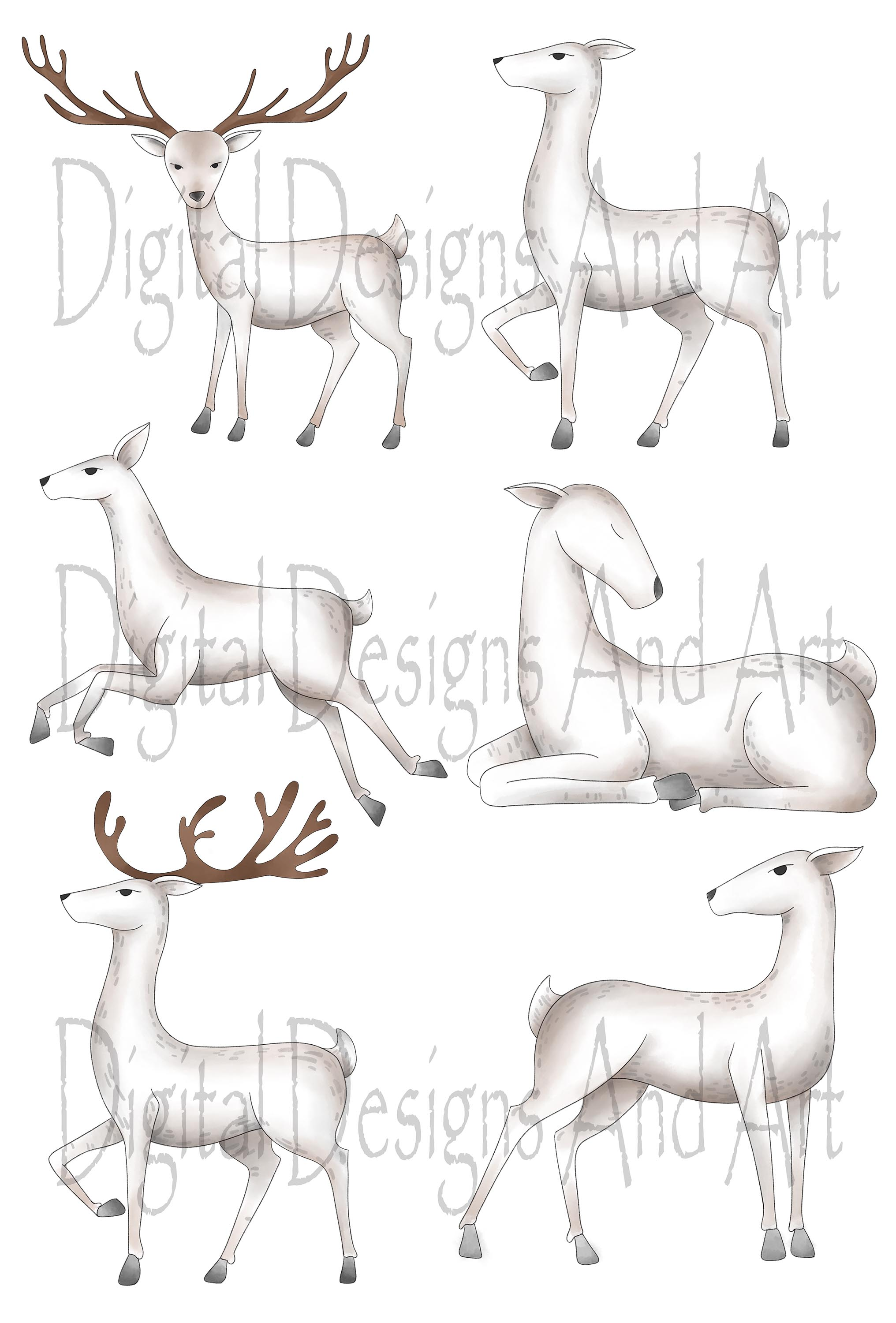 Winter deer example image 2