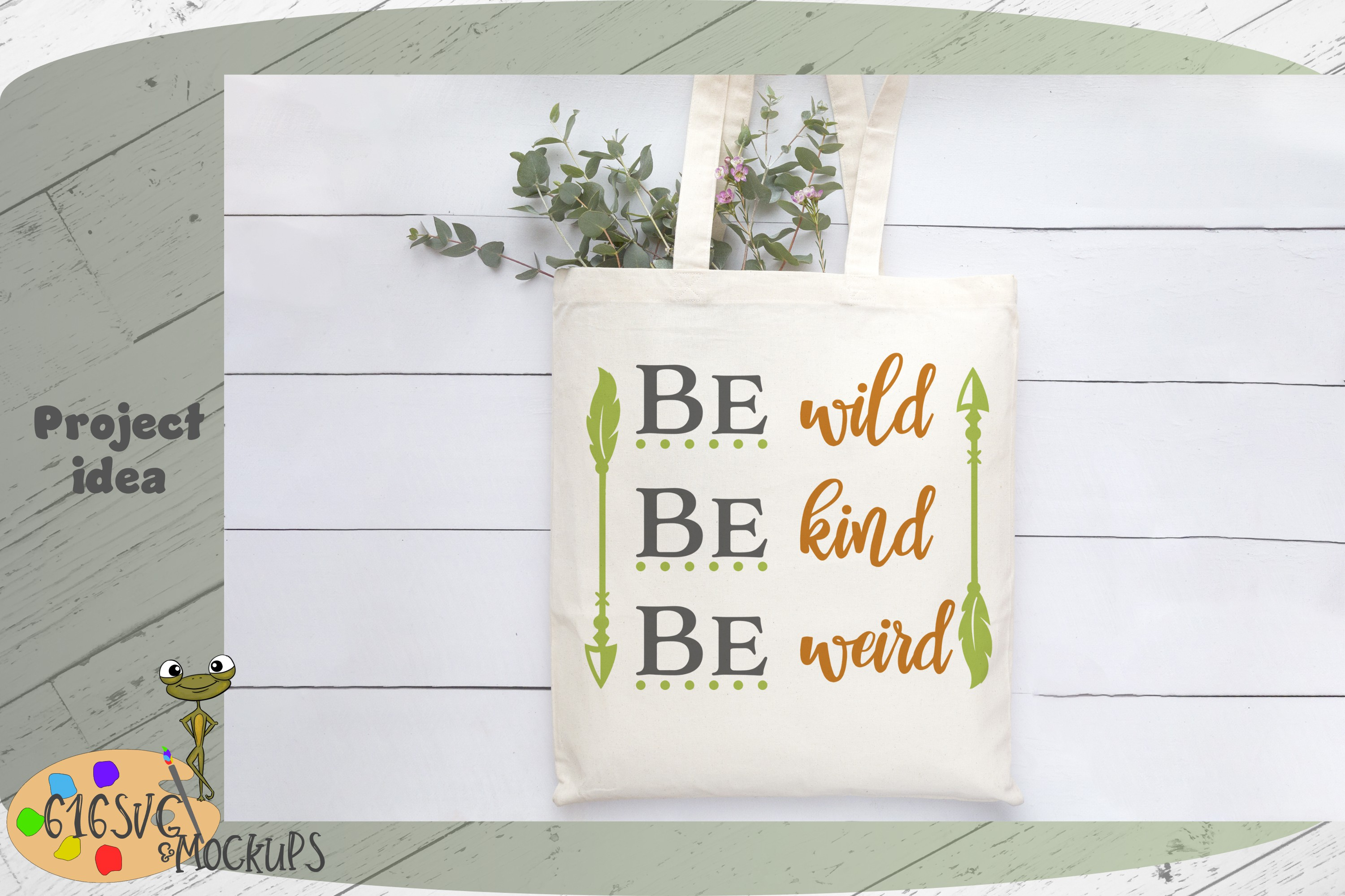 Be Wild Be Kind Be Weird SVG example image 3