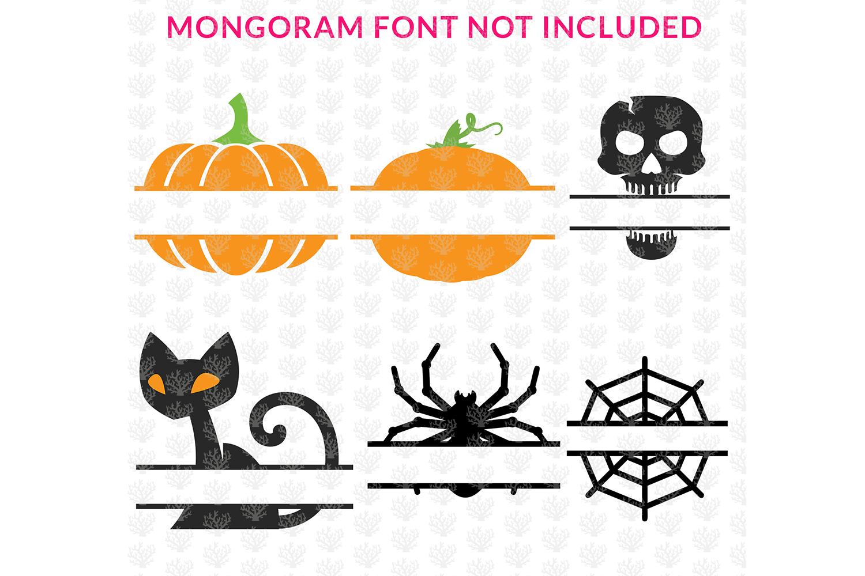 Big SVG Bundle - 31 Halloween Monogram Frame SVG EPS DXF PNG example image 5