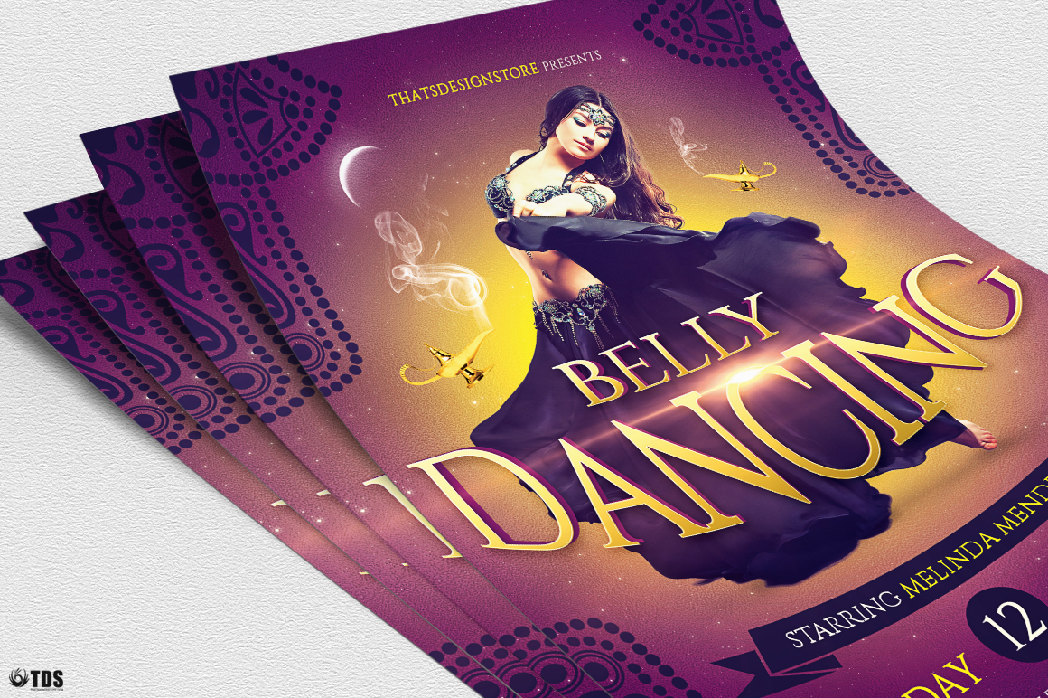Belly Dancing Flyer Template example image 5