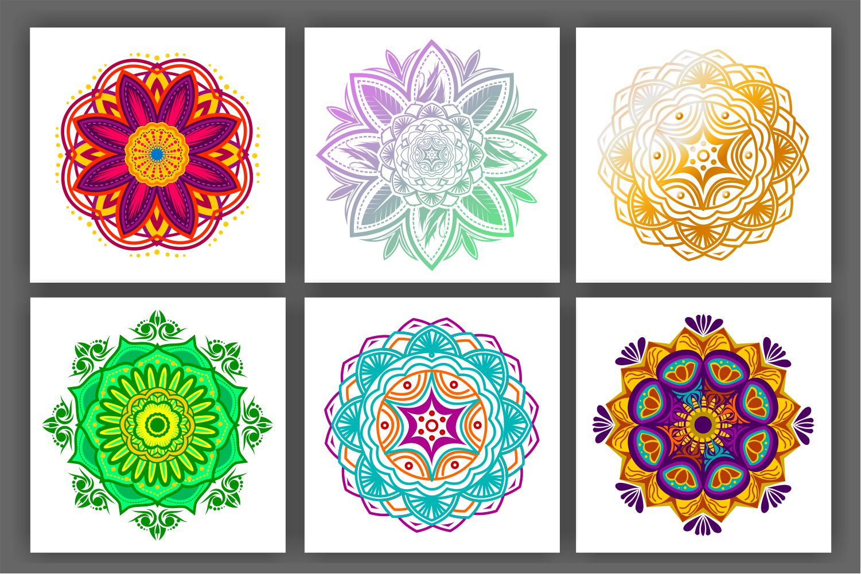 Colorful Mandala Abstract Geometric example image 7
