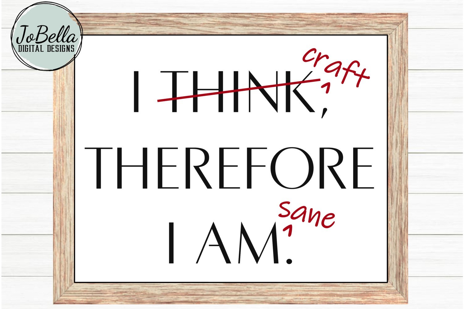 Funny Crafter SVG and Printable- I Craft Therefore I Am Sane example image 3
