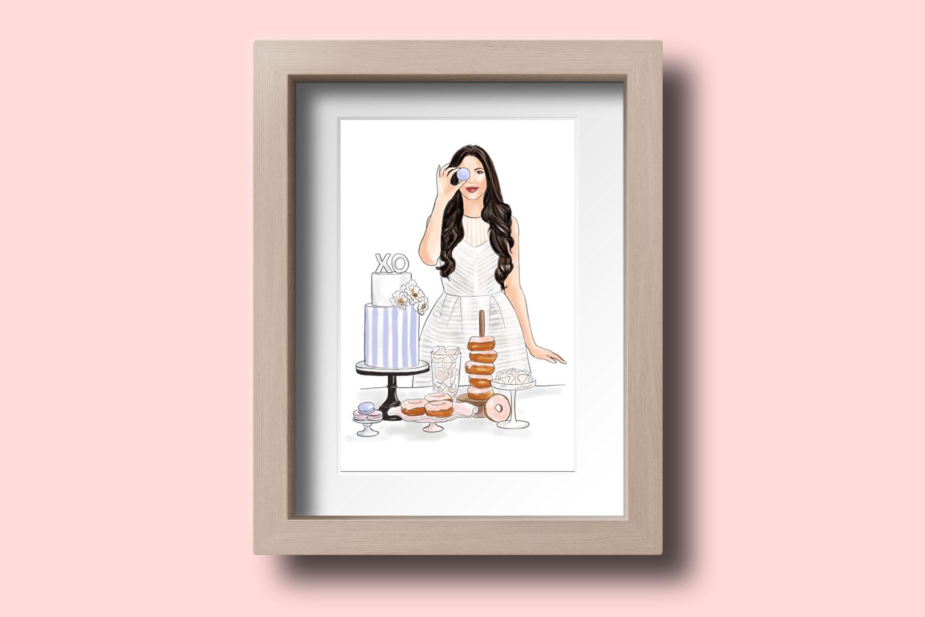 Fashion illustration - Baker Girl - Light Skin example image 4