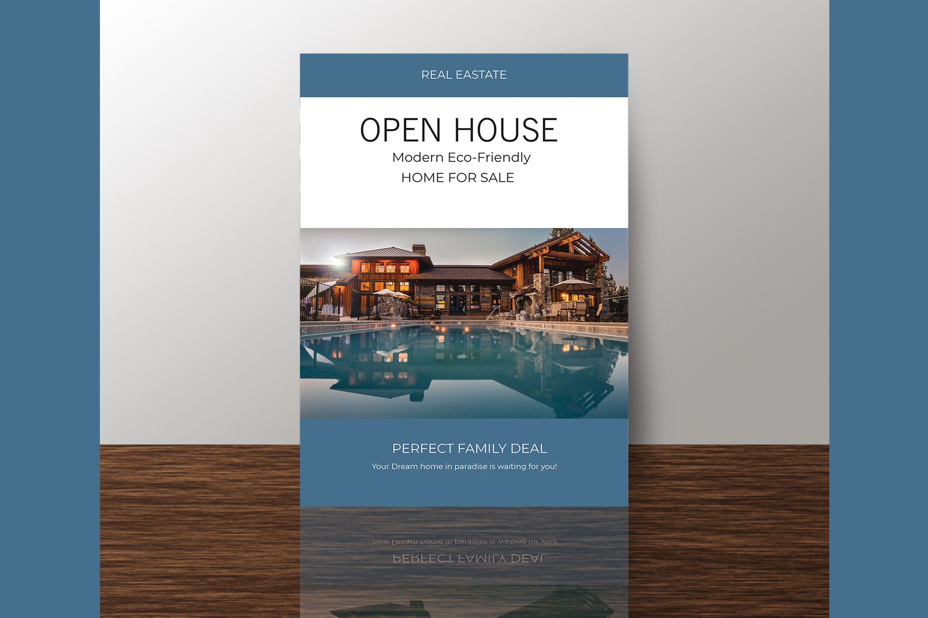 Professional Real Estate Flyer A4 - Printable Templates example image 10