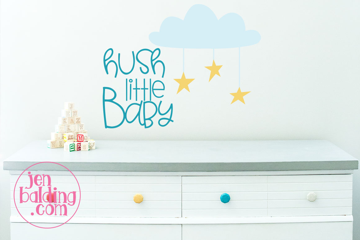 Hush Little Baby SVG example image 1