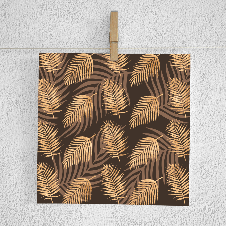 Copper Palm Leaves Paper example image 3