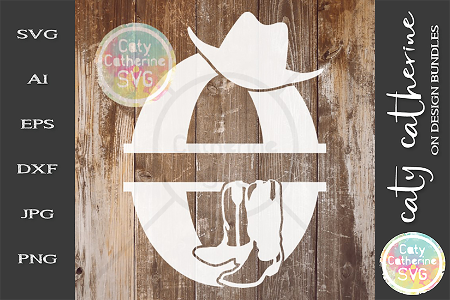 Letter O Cowboy Monogram SVG Includes Cowboy Boots example image 1