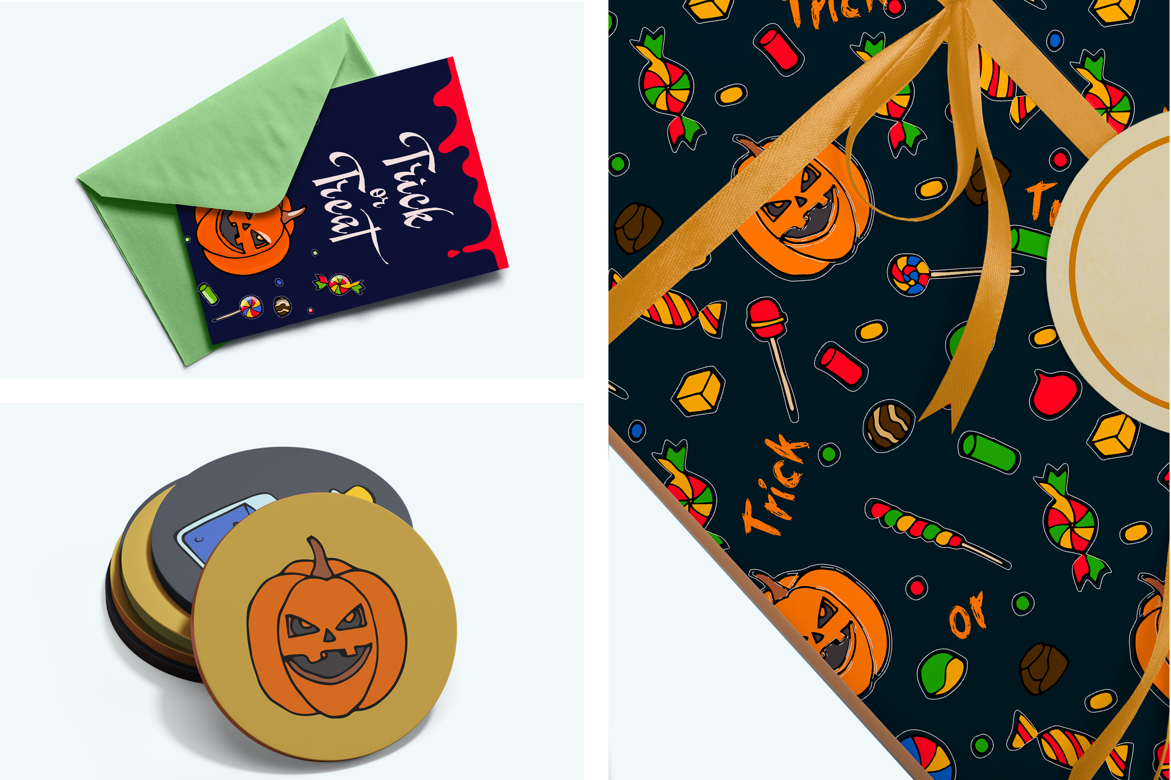 Halloween collection. Patterns, Elements, Posters example image 5