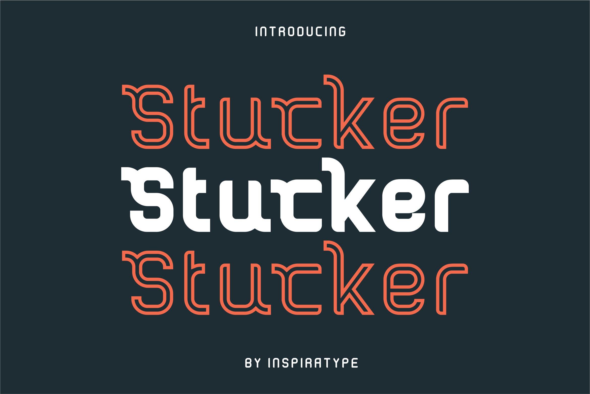 Stucker - Regular, Bold & Inline example image 1