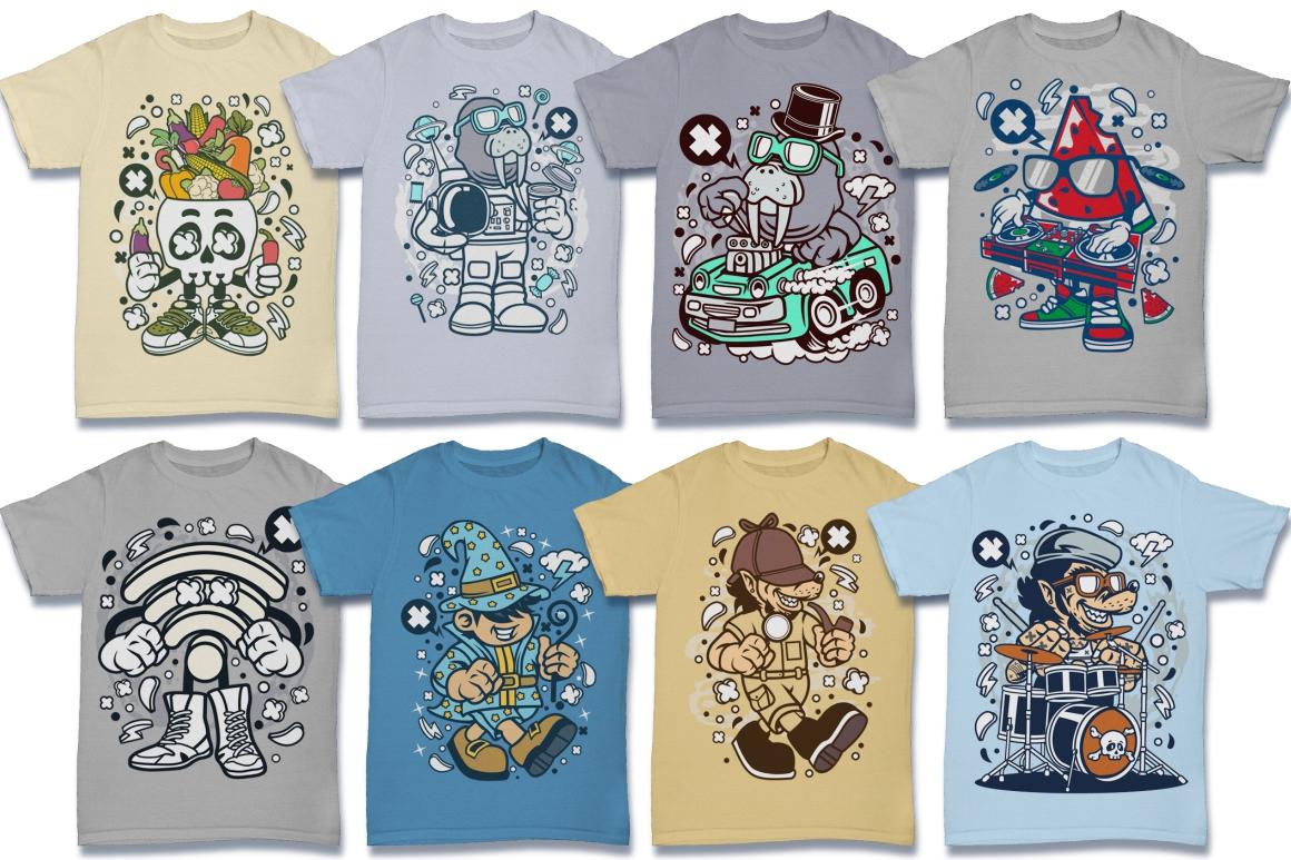 Cartoon Vector #6 Tshirt Design Bundle example image 28