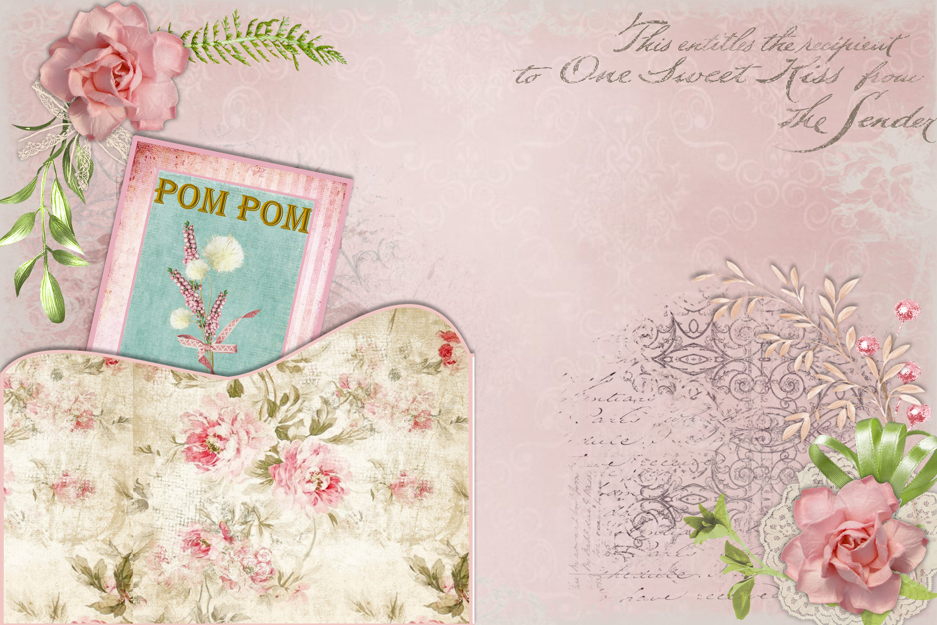 Shabby Chic Vintage backgrounds, Ephemera and Clipart Pmgs example image 3