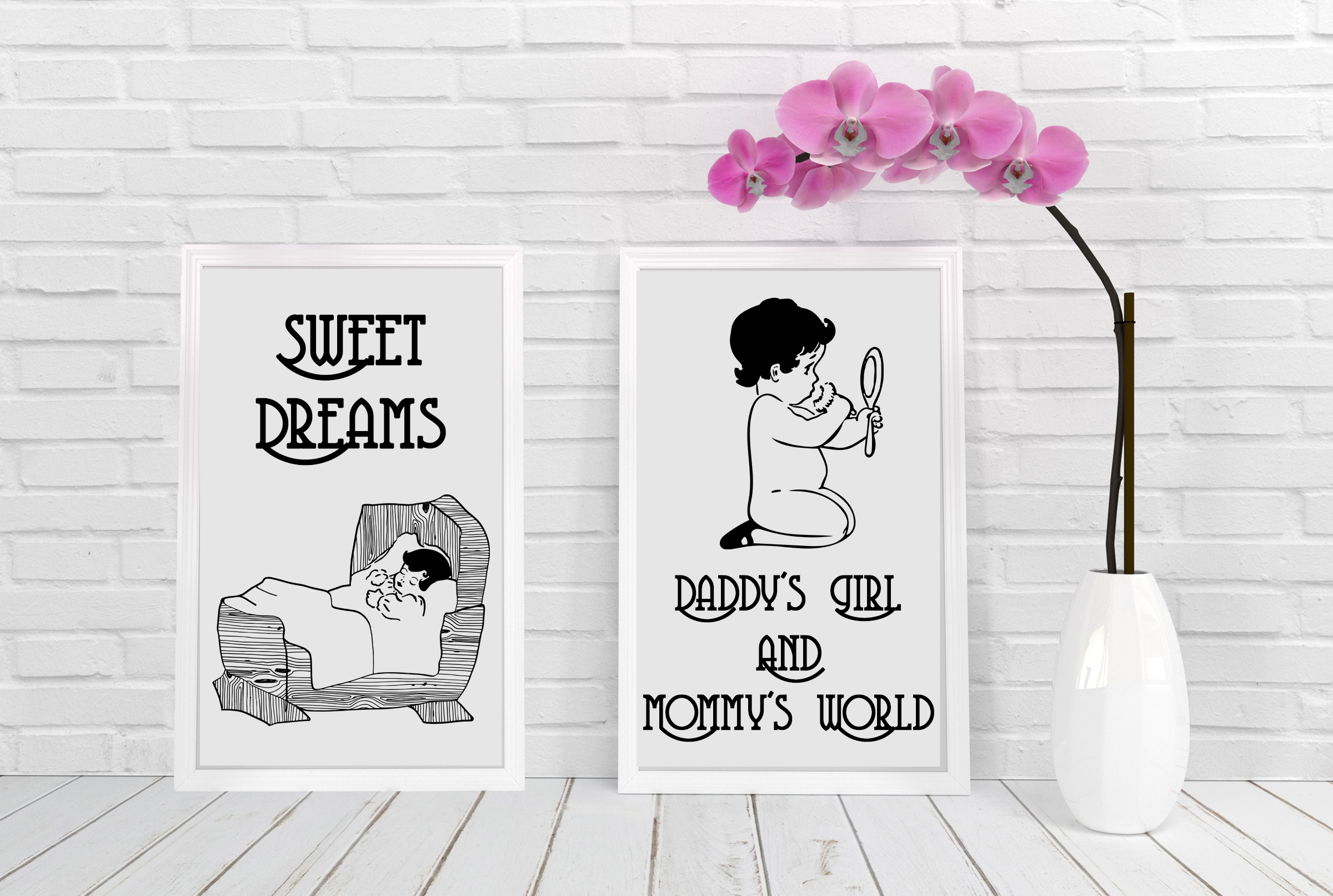 Vintage Babies, Toddles & Moms AI EPS PNG example image 5