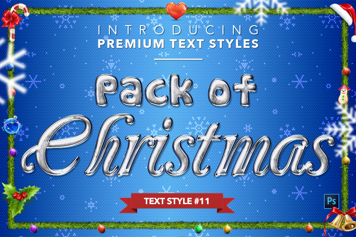 Christmas Pack #2 - 20 Text Styles example image 12