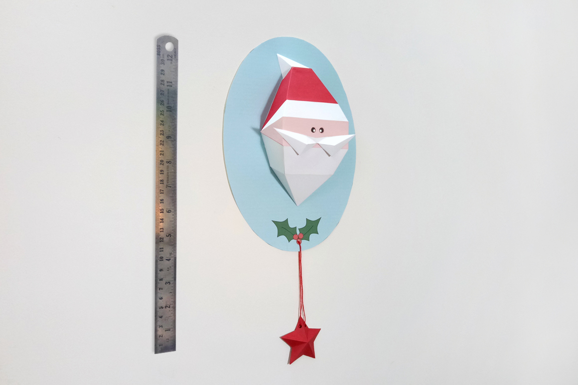 DIY Santa Claus Trophy - 3d papercraft example image 3