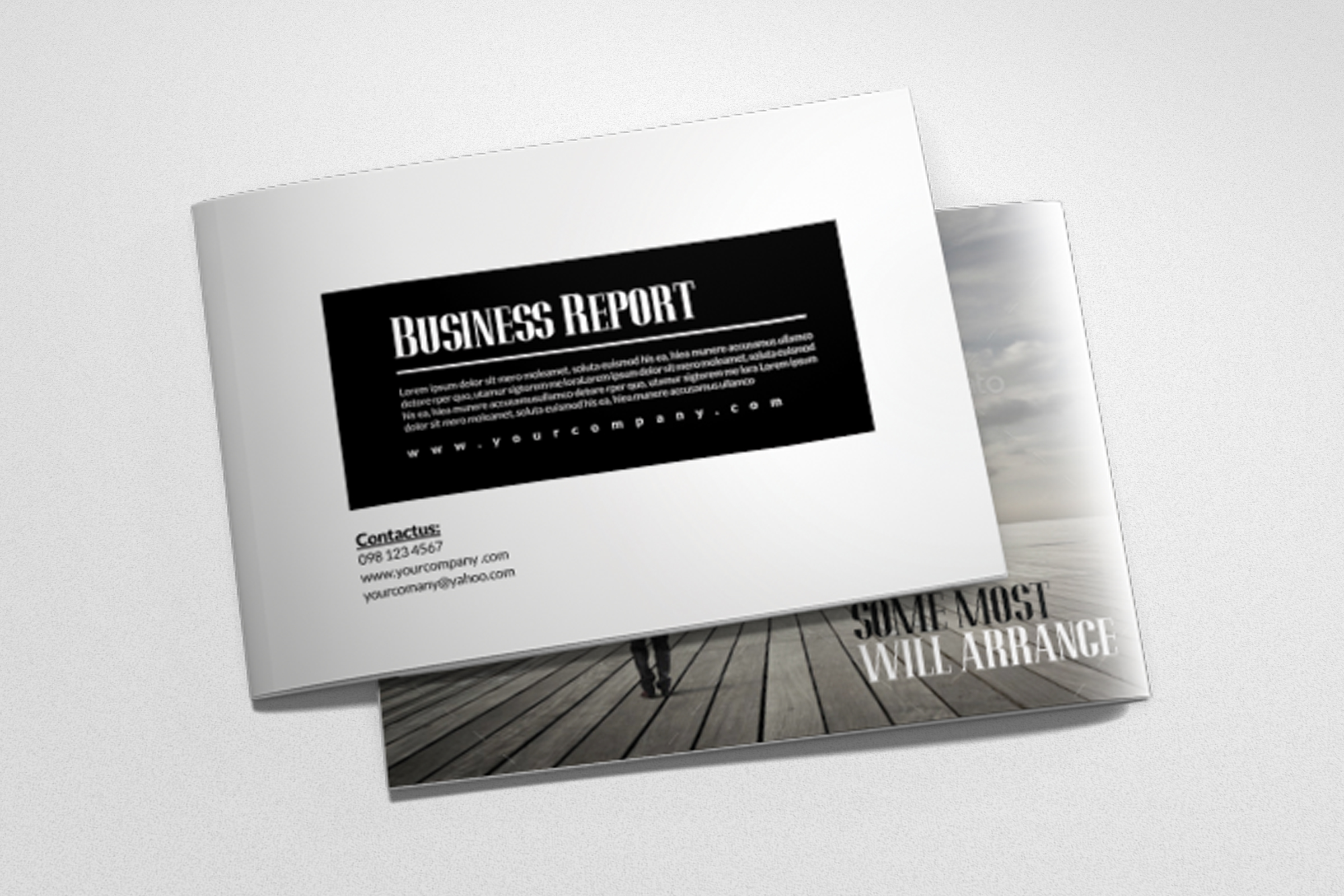 Business Corporate Bifold Brochure example image 3