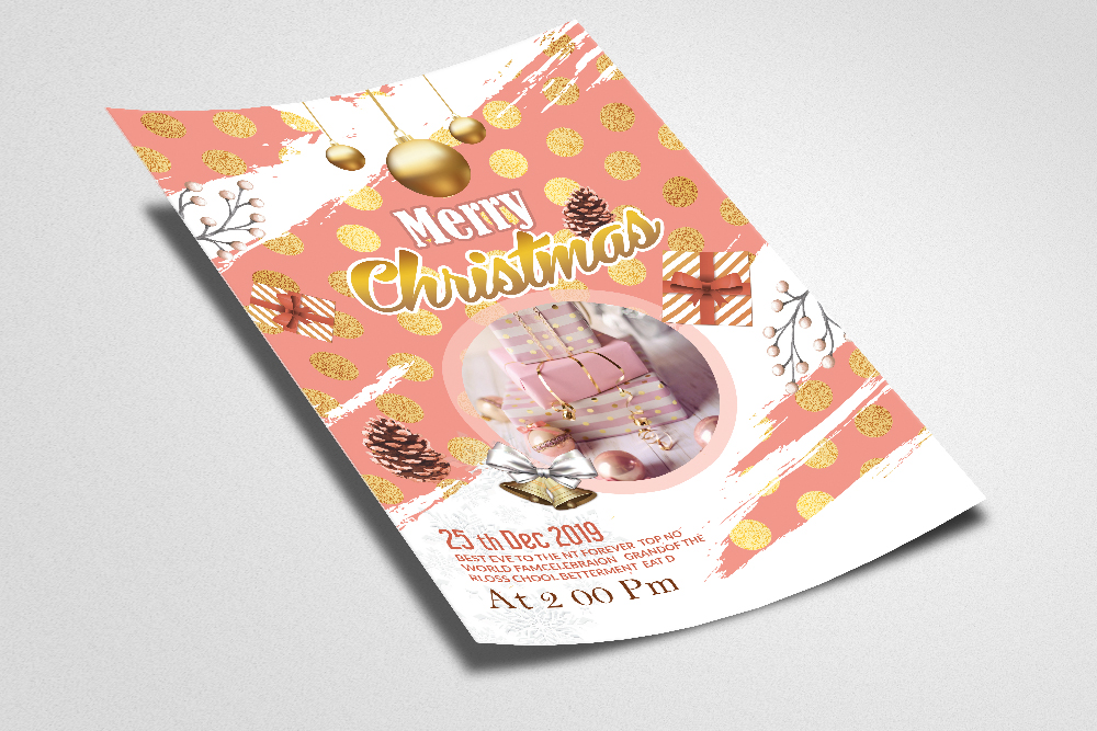 Christmas Greeting Flyer Template example image 2