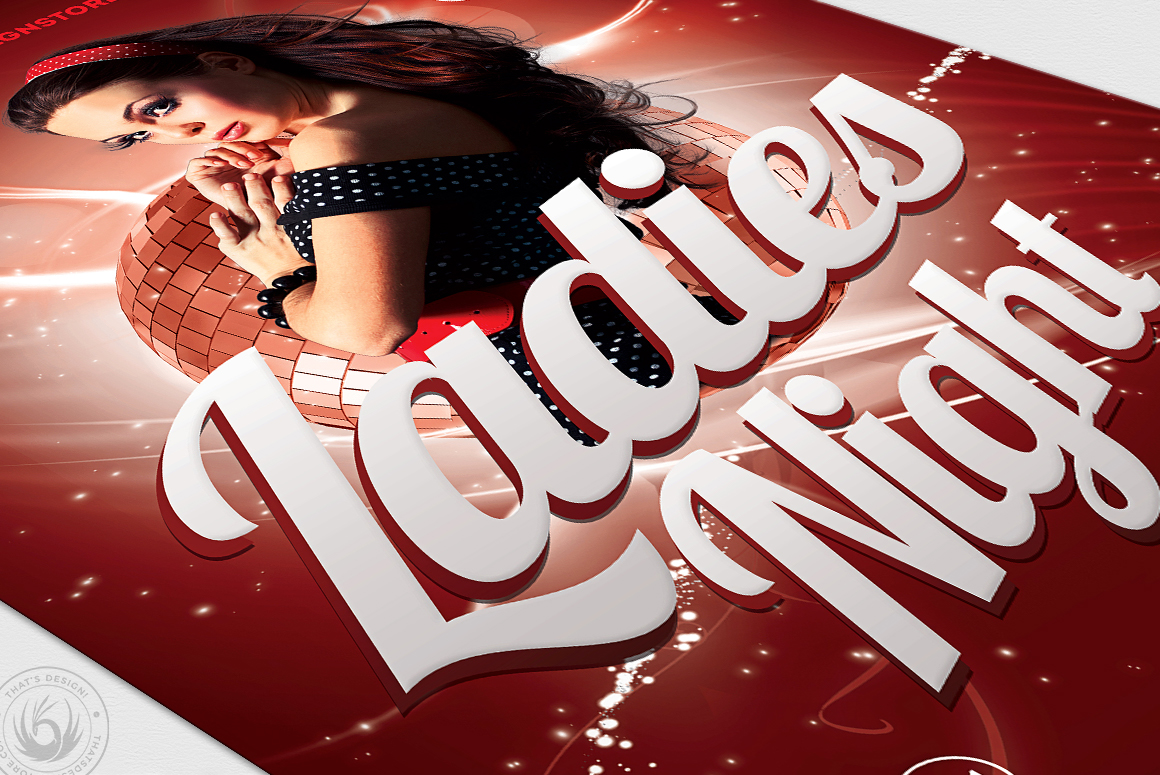 Ladies Night Flyer template V1 example image 6