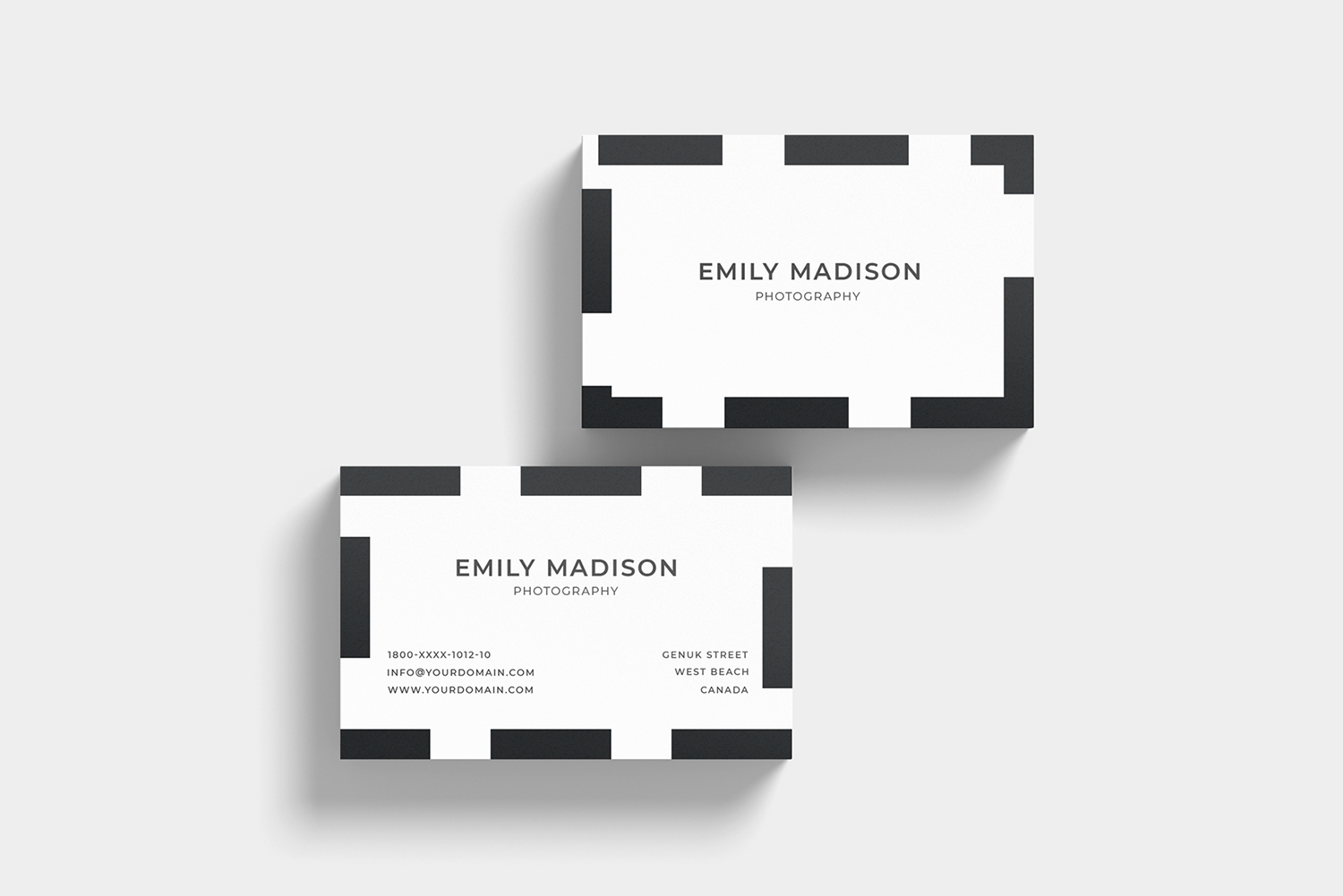 Clean Minimal Business Card Template example image 6
