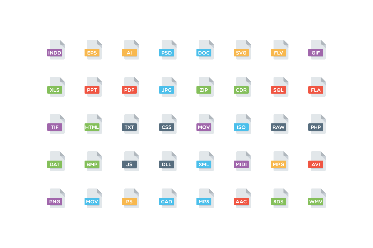 110 Files and Folders Icons example image 2