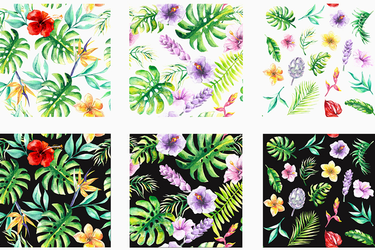 Tropical Floral Watercolor Collection example image 6
