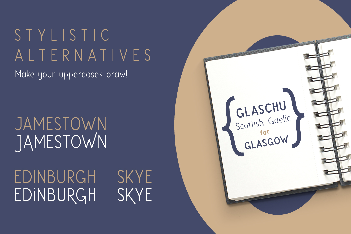Glaschu Font Family example image 4