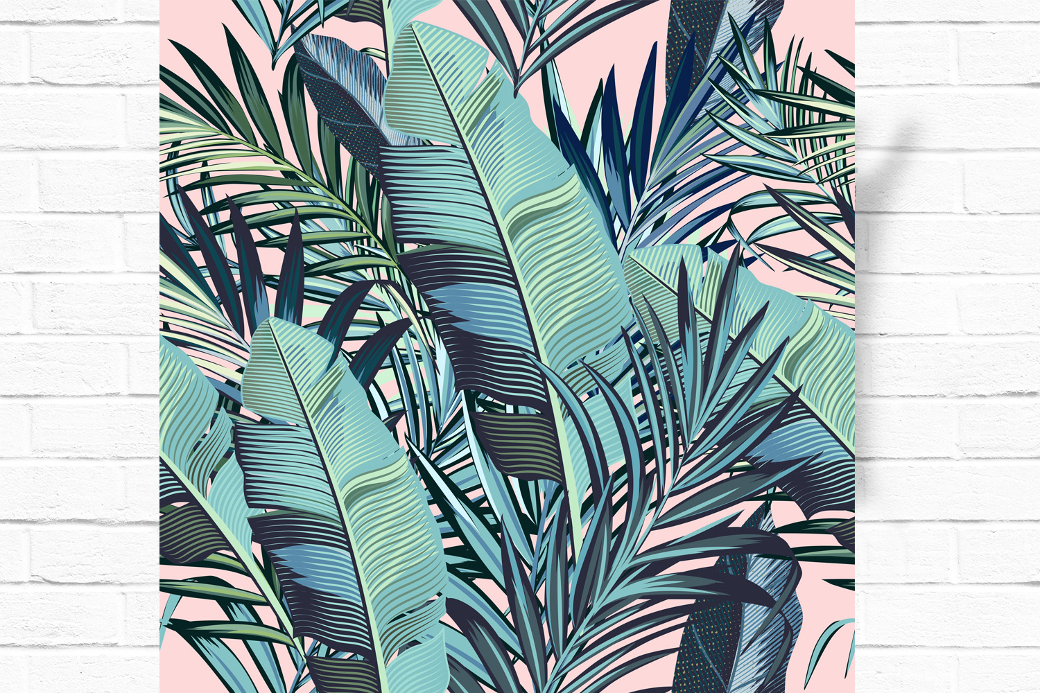 Palm leaves vector seamless pattern example image 2