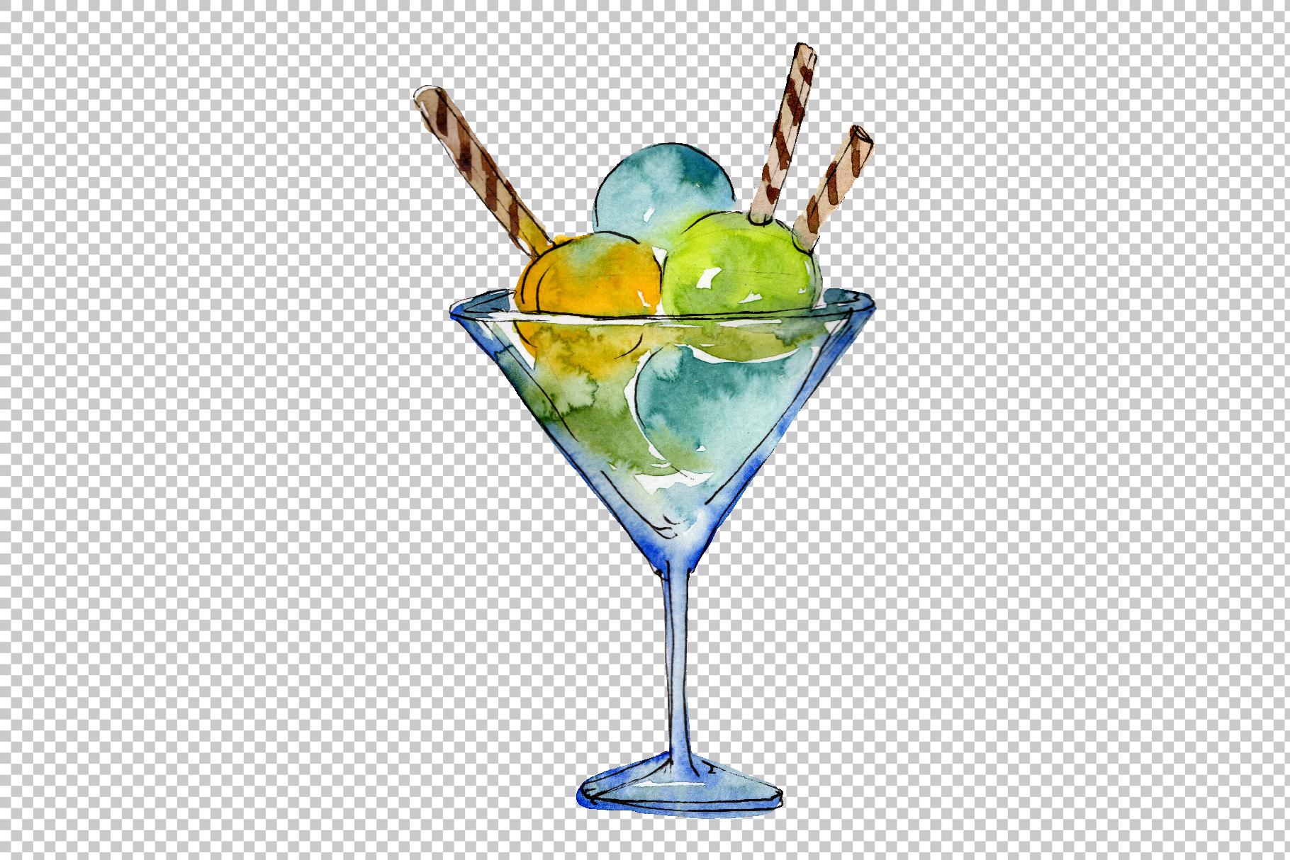 Ice cream Malvina Watercolor png example image 3
