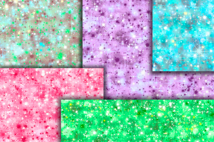 Star sparkle digital paper example image 2